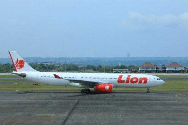 Ilustrasi pesawat Lion Air.