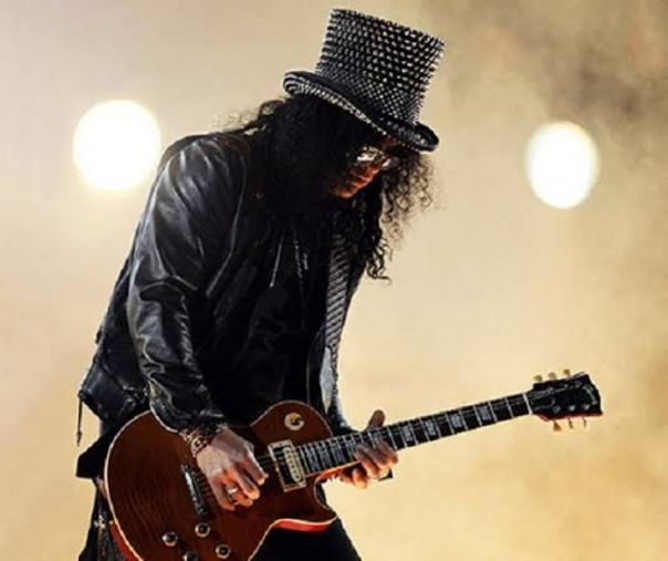 Gitaris band legendaris Guns N Roses, Slash (Foto: Istimewa/id.bookmushow.com)