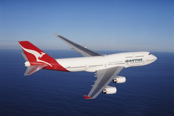 Ilustrasi pesawat Qantas Airways.