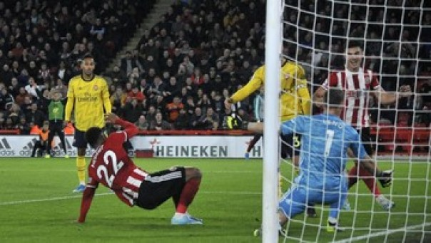 Arsenal tumbang di kandang Sheffield United.