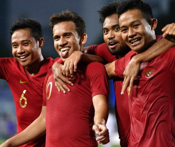 Timnas U-22 di SEA Games 2019 Filipina. Foto: Antara.